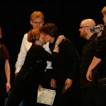 Laura Escalada Piazzolla handing over the 1st price at the International Libertango Competion, Italy 2008